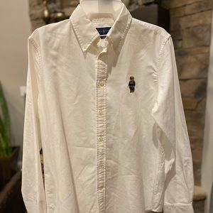 NWT Ralph Lauren button up long sleeve bear shirt